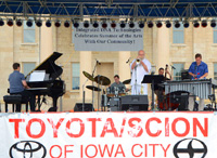Kevin Hart & the Vibe Tribe with David Hoffman at the Iowa City Jazz Festival